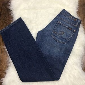 """7 For All Mankind """"Boot"""" Dark Wash Jeans"""